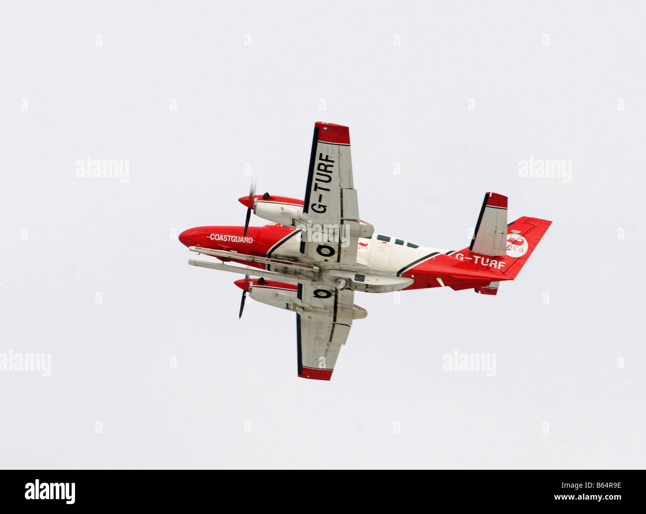 A Reims-Cessna F406 Caravan II leaving Inverness Dalcross Airport in the Scottish Highlands  SCO 2007 - Stock Image