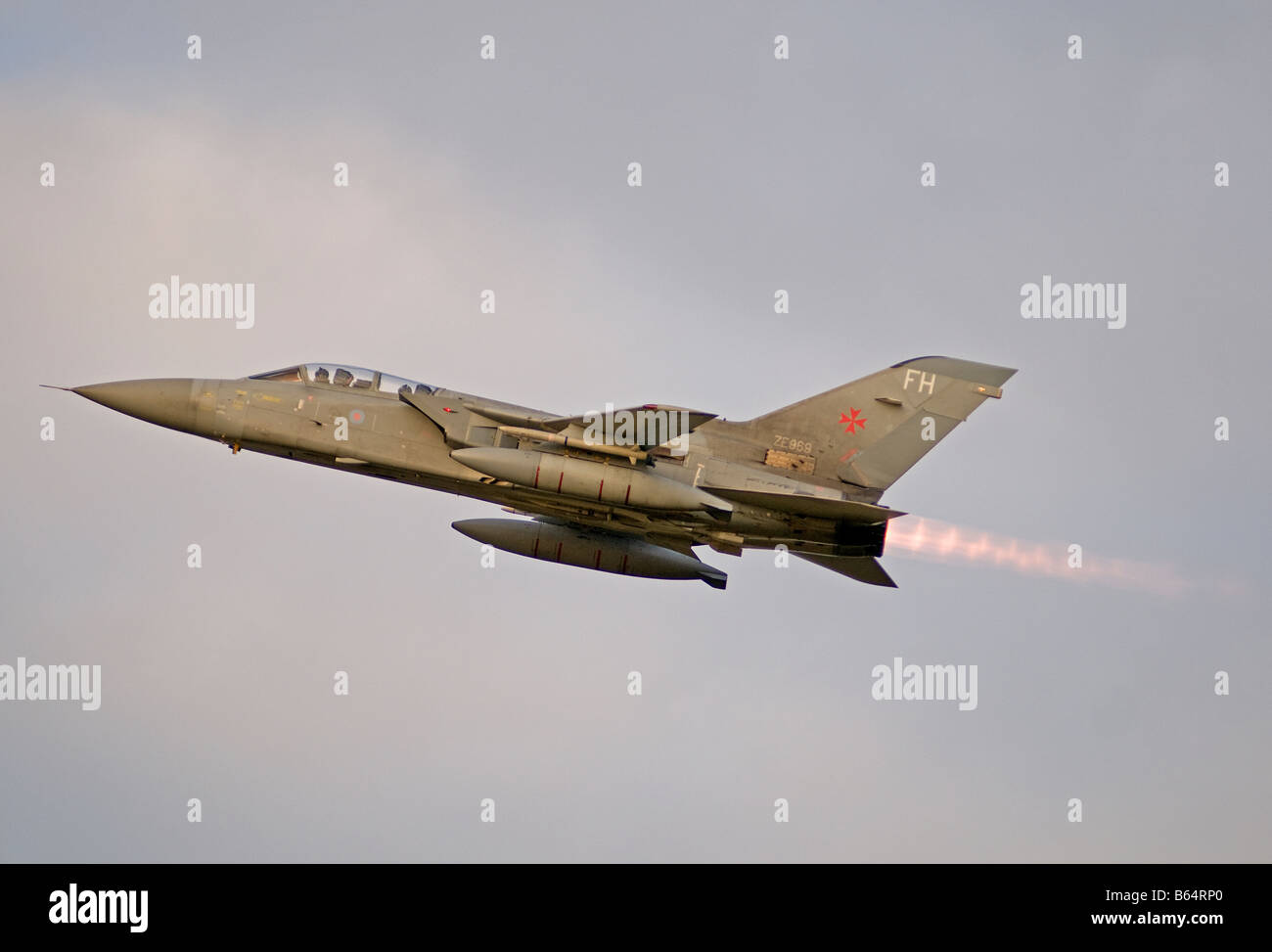 Panavia F3 Tornado on full reheat at take off RAF Kinloss Moray Grampian Region Scotland  SCO 2012 - Stock Image