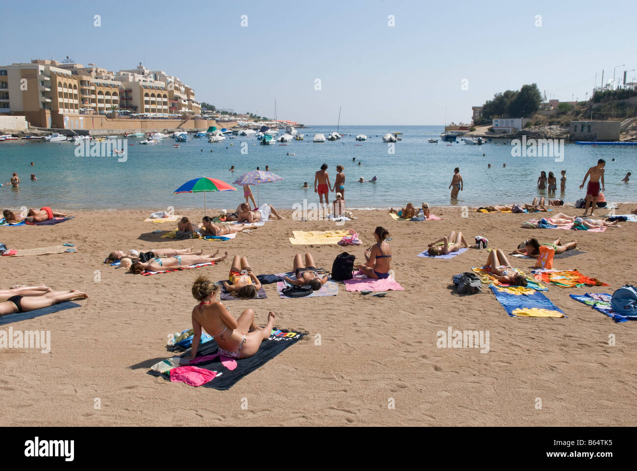 Beach At St George S Bay St Julian S Paceville Malta