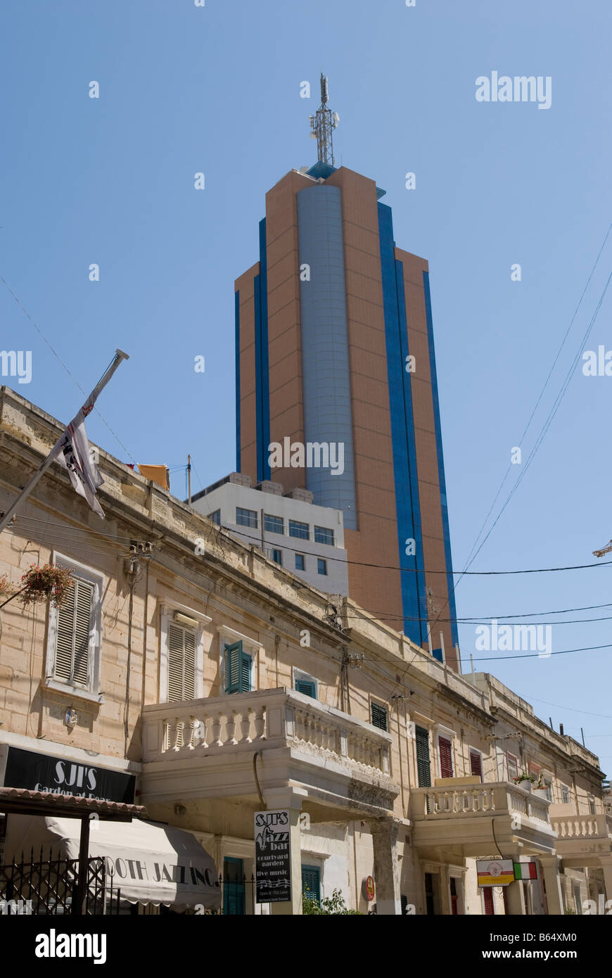 Portomaso Tower building from Church Street, Paceville St