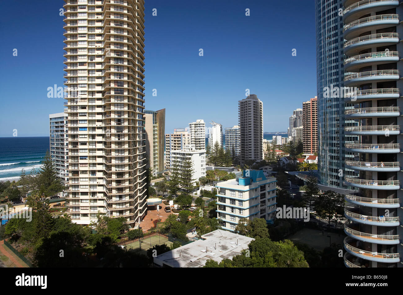 Peninsula and Aegean Resorts Surfers Paradise Gold Coast Queensland Australia - Stock Image