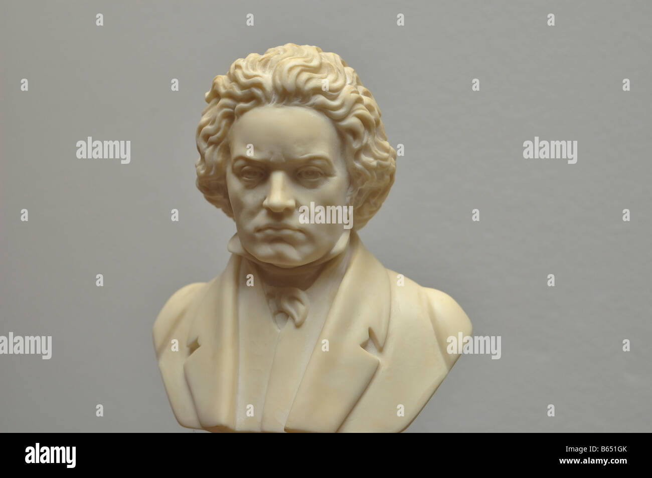 Reproduction of the bust of Ludwig van Beethoven - Stock Image