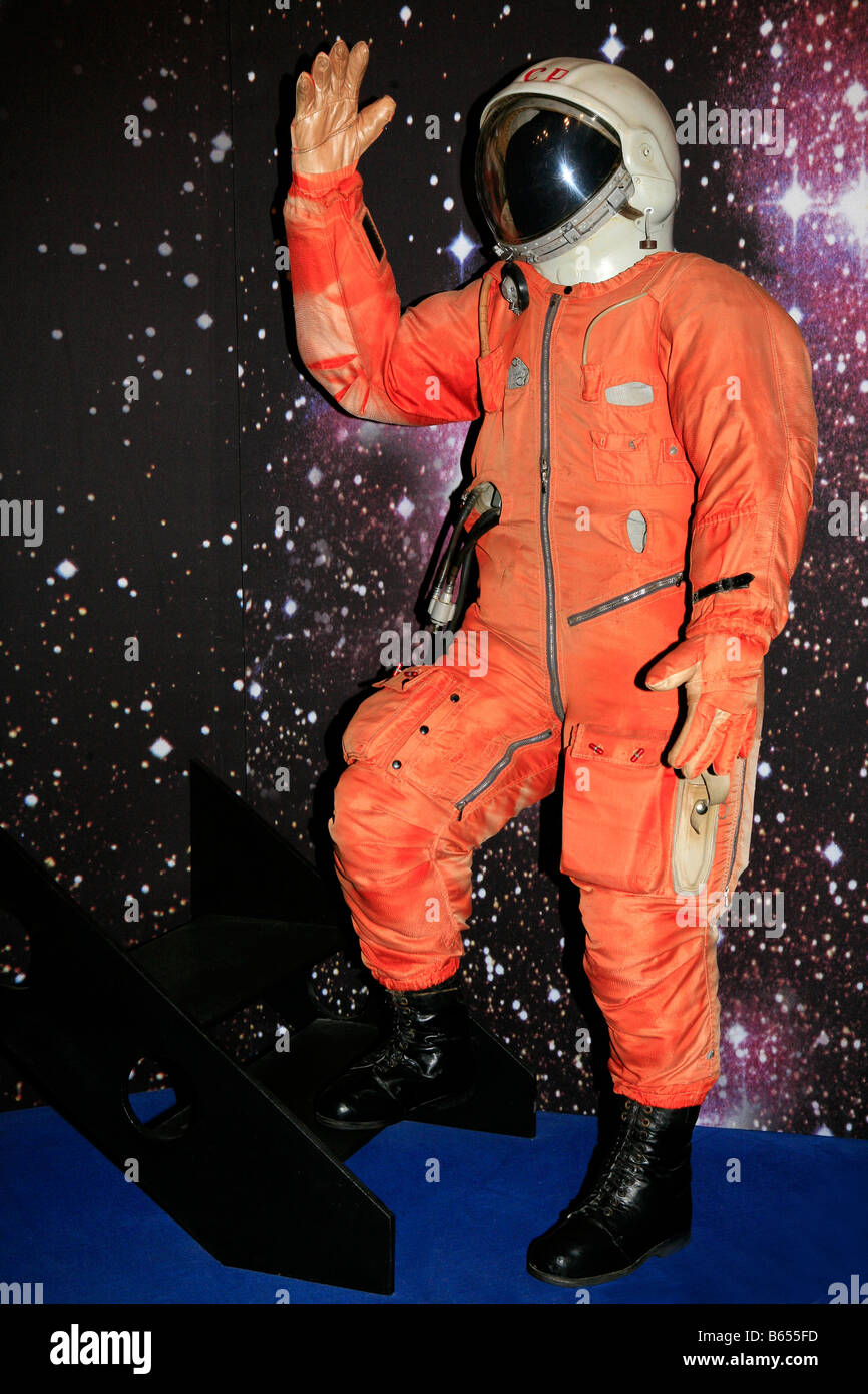 Space suit of the world's first human in space cosmonaut Yuri Gagarin (1934-1968) at Gagarin (formerly Klushino), - Stock Image