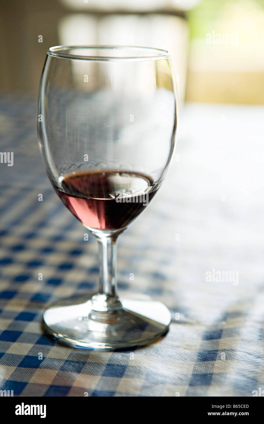 Glass of sherry, close-up - Stock Image