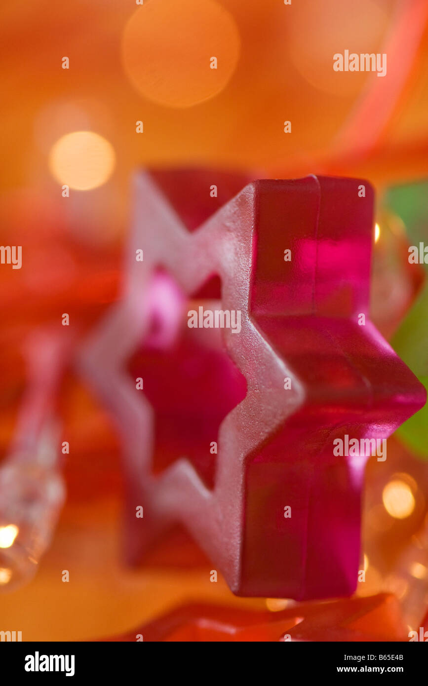 Star of David holiday decoration, close-up Stock Photo