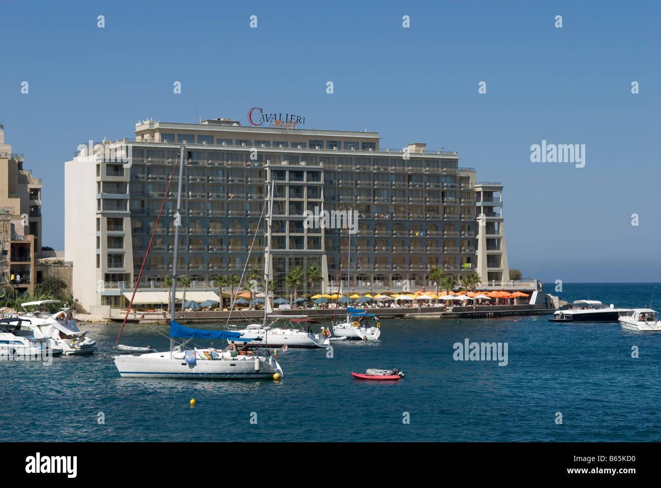 Cavalieri Hotel at Spinola Bay, Paceville St  Julians Malta Stock