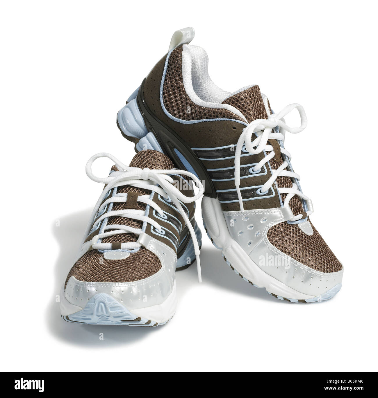 Brown Adidas running shoes Stock Photo