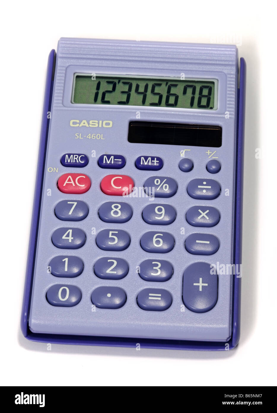 Casio Solar Powered Calculator - Stock Image