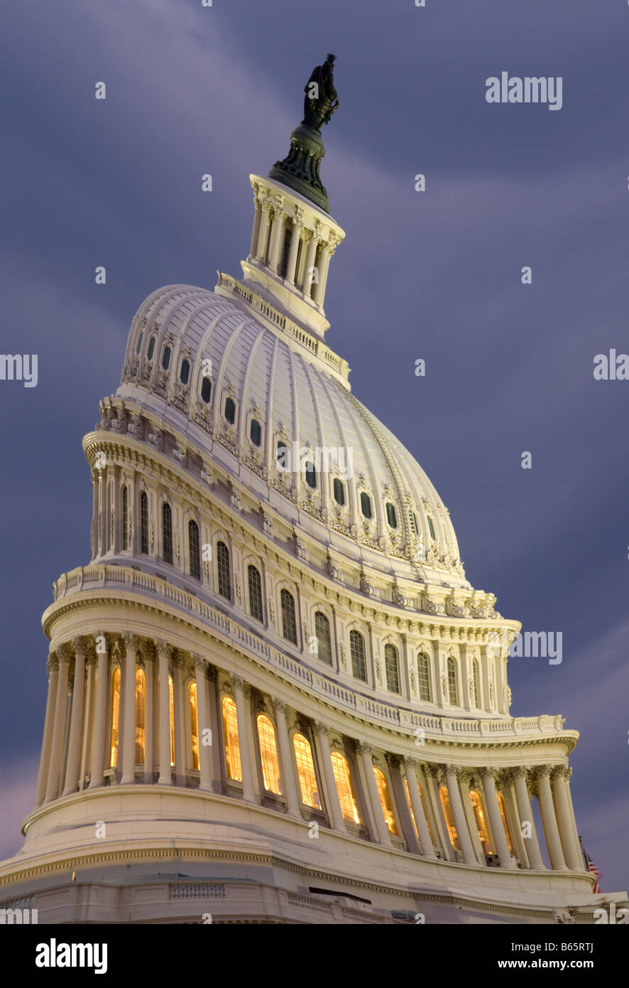 Dome of Capitol Building Washington DC humorously warped digital alteration - Stock Image