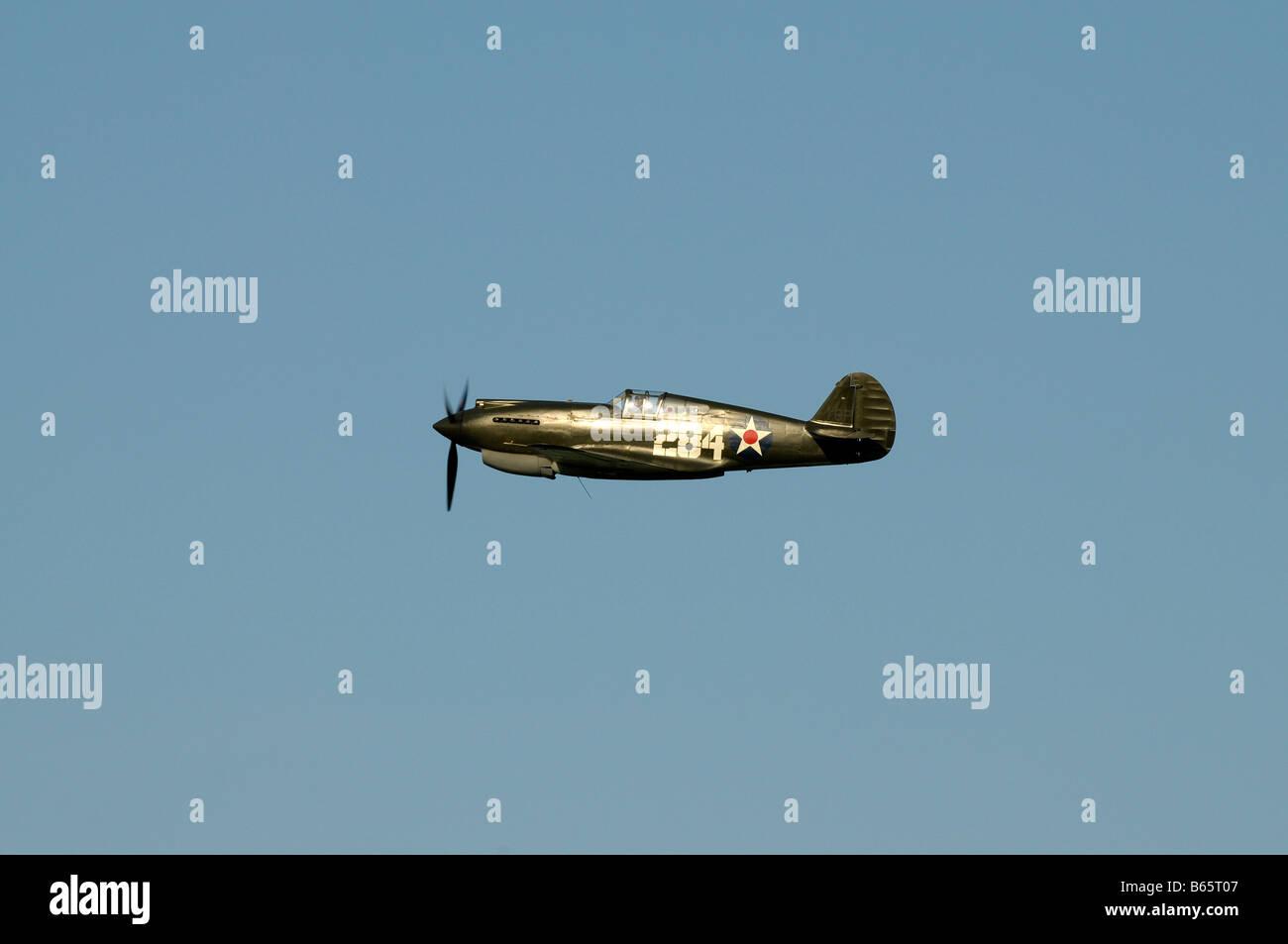 Curtiss P40B Warhawk Kittyhawk 1941 - Stock Image