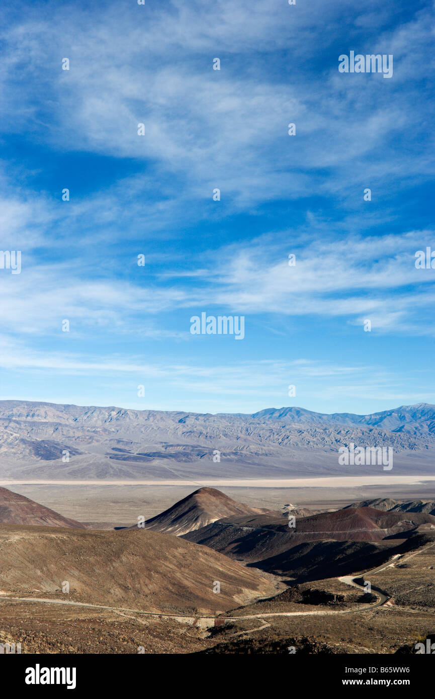 View from SR 190 in Panamint Range just past Towne Pass, Death Valley National Park, California, USA Stock Photo