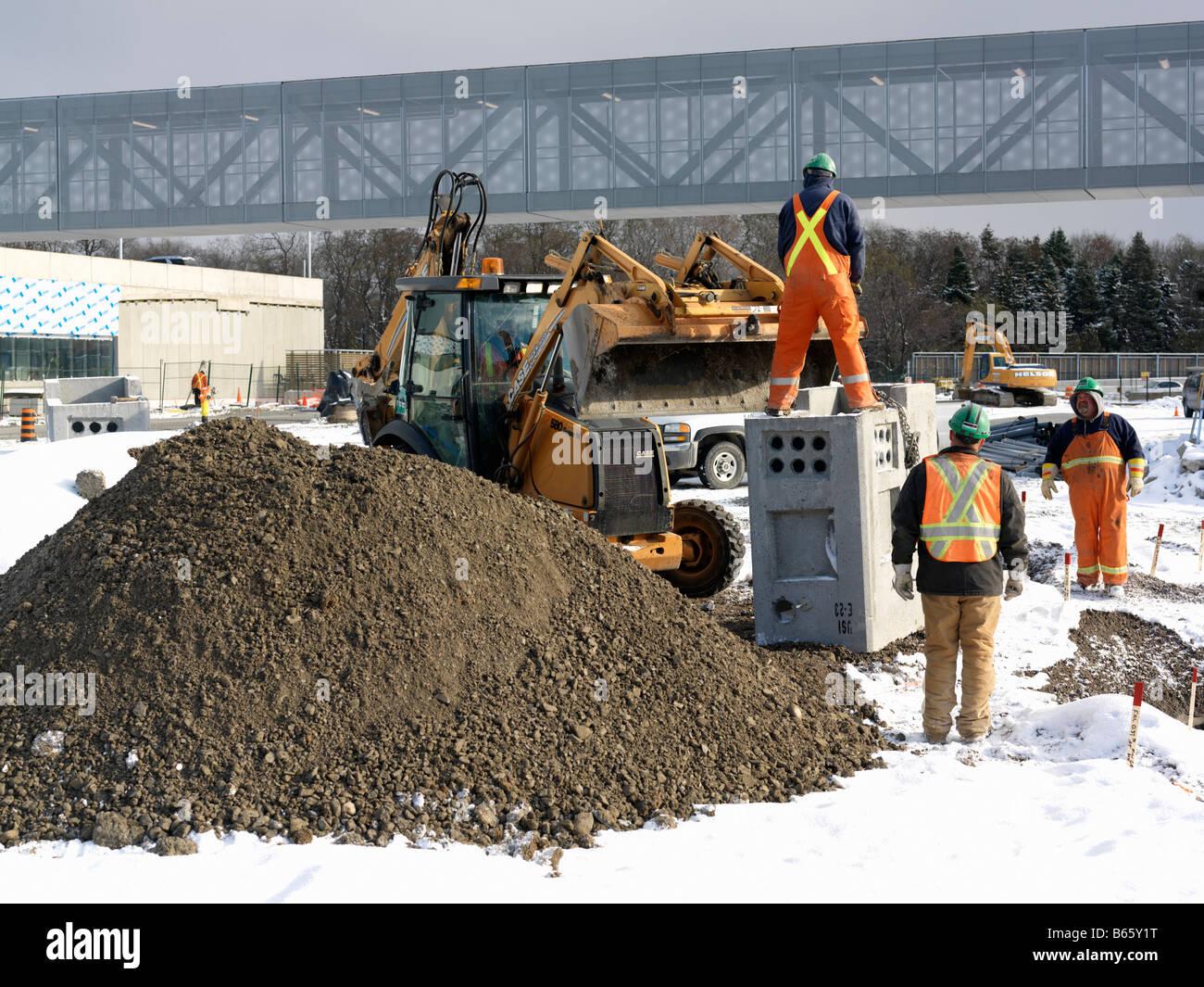 Building Site Winter Construction Work Stock Photos & Building Site ...