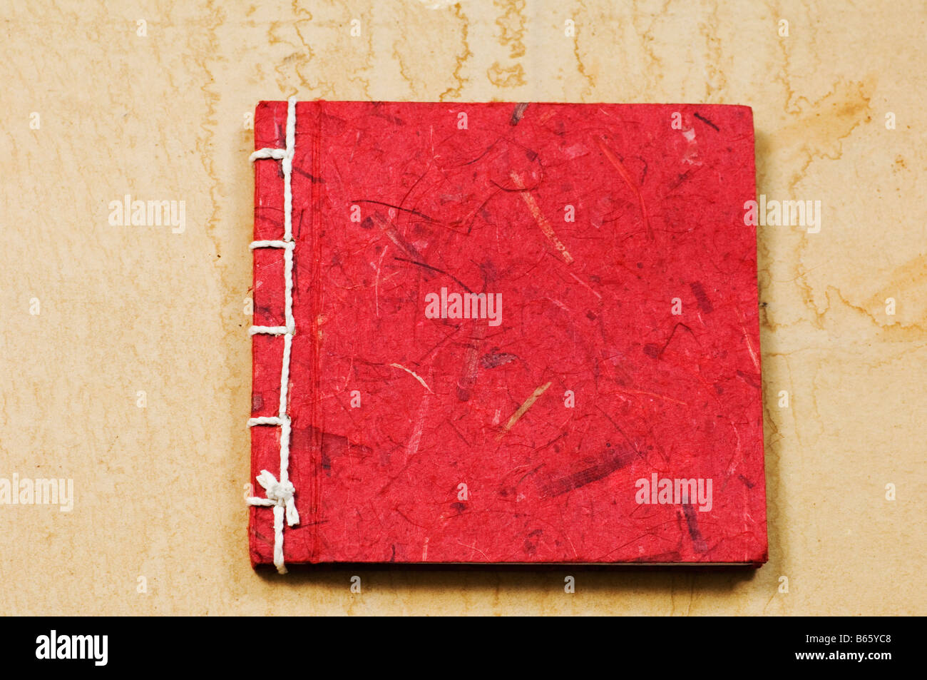 Recycled paper diary - Stock Image