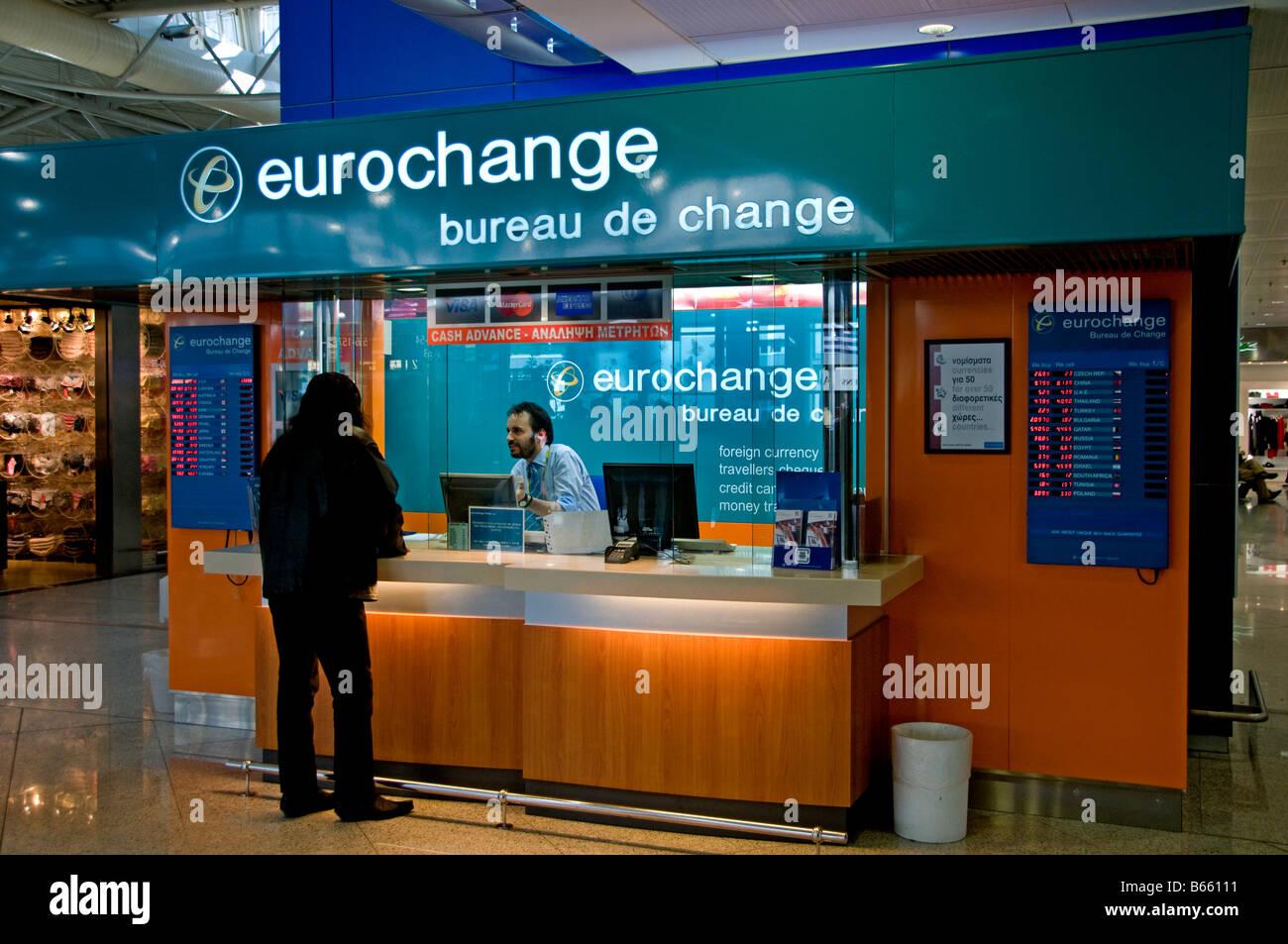 Athens international airport stock photos athens international airport stock images alamy - Bureau de change euro dollar paris ...