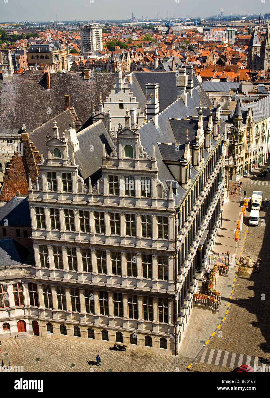 Town hall Ghent Belgium - Stock Image