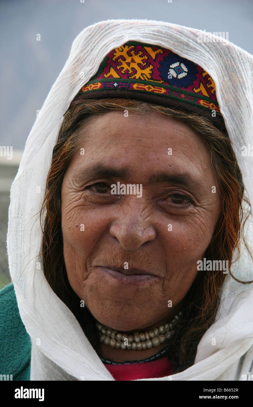 Lady in Karimabad, Pakistan - Stock Image