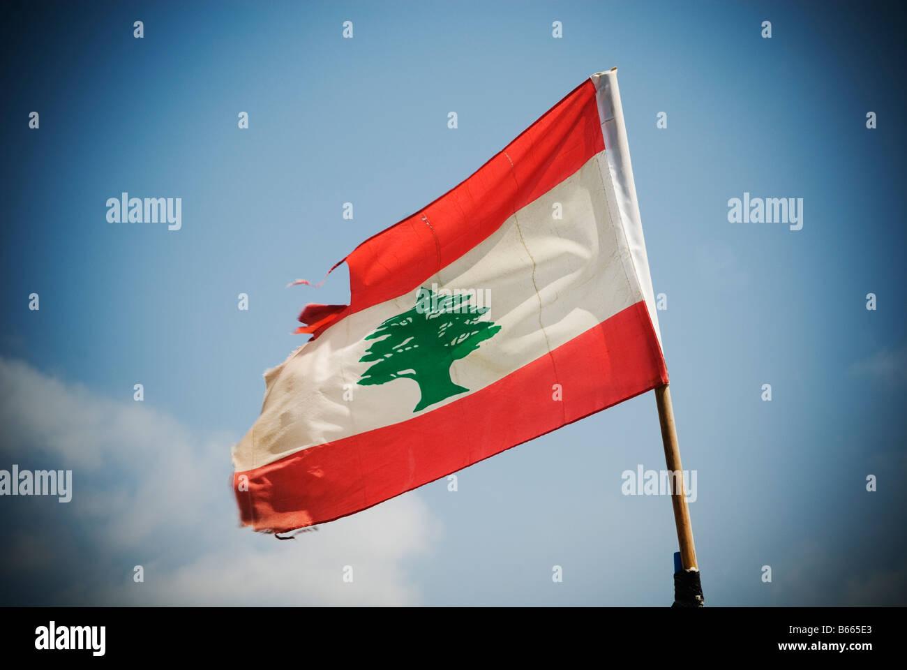 Lebanon Flag - Stock Image
