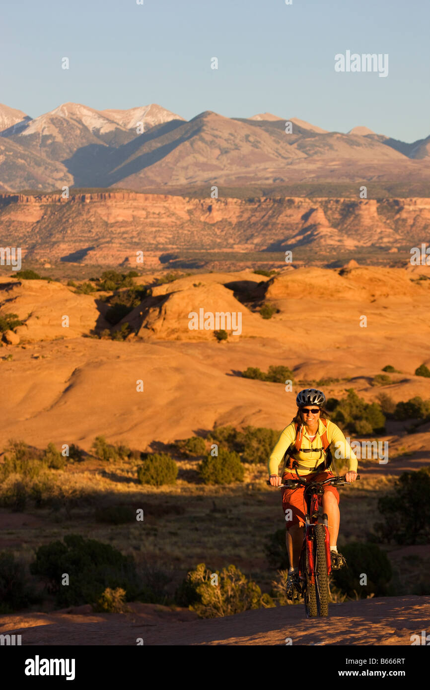 Riding the famous Slickrock Trail Moab Utah model released - Stock Image
