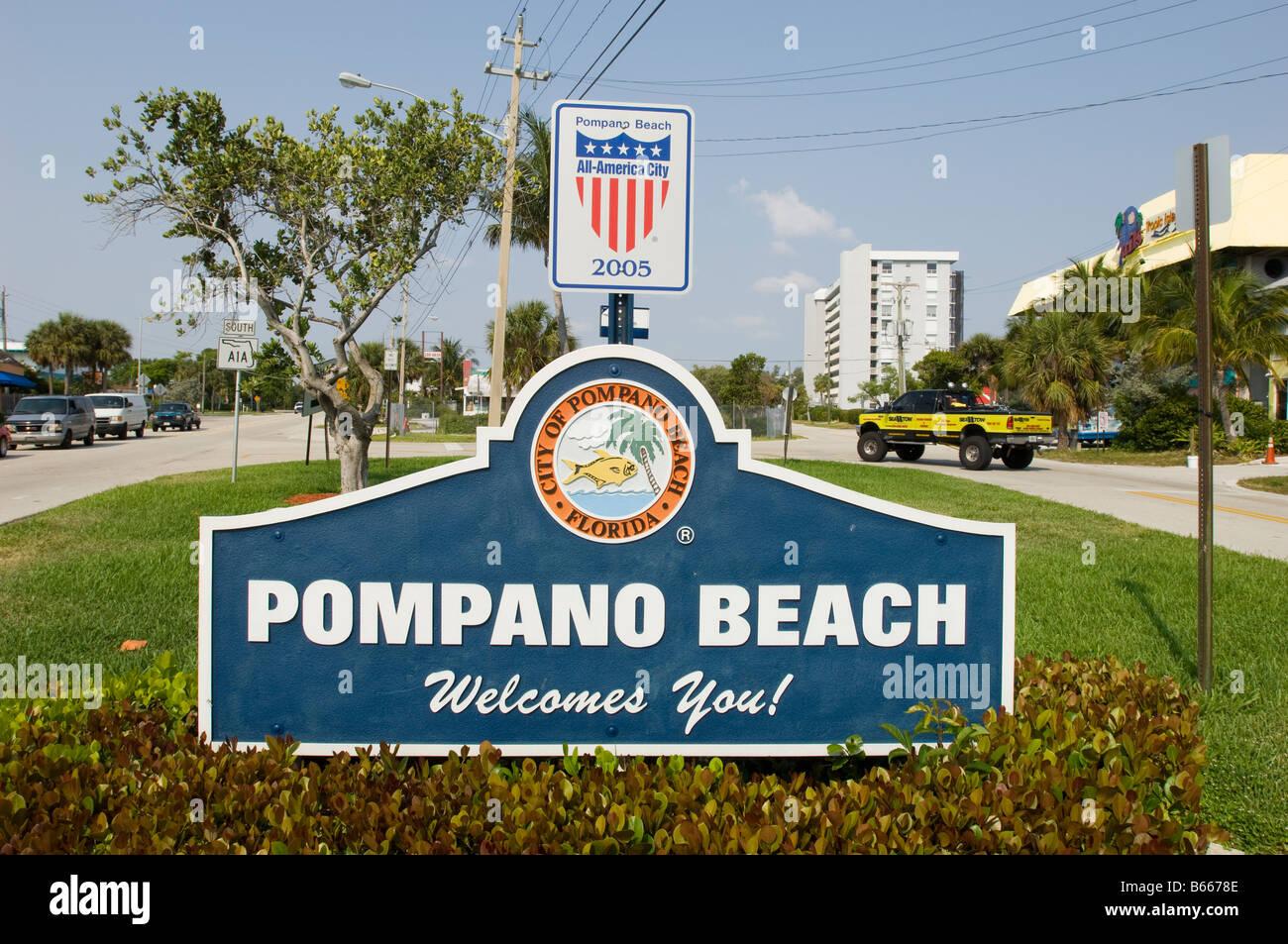 Pompano Beach Gold Coast Florida United States of America - Stock Image