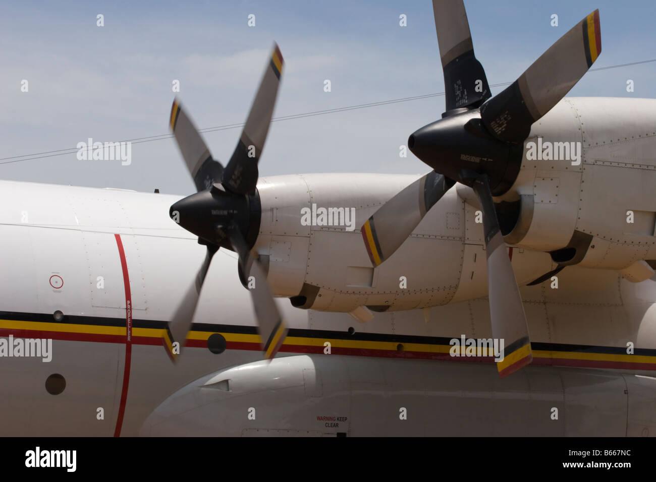 hercules aircraft locheed martin turboprop engines - Stock Image