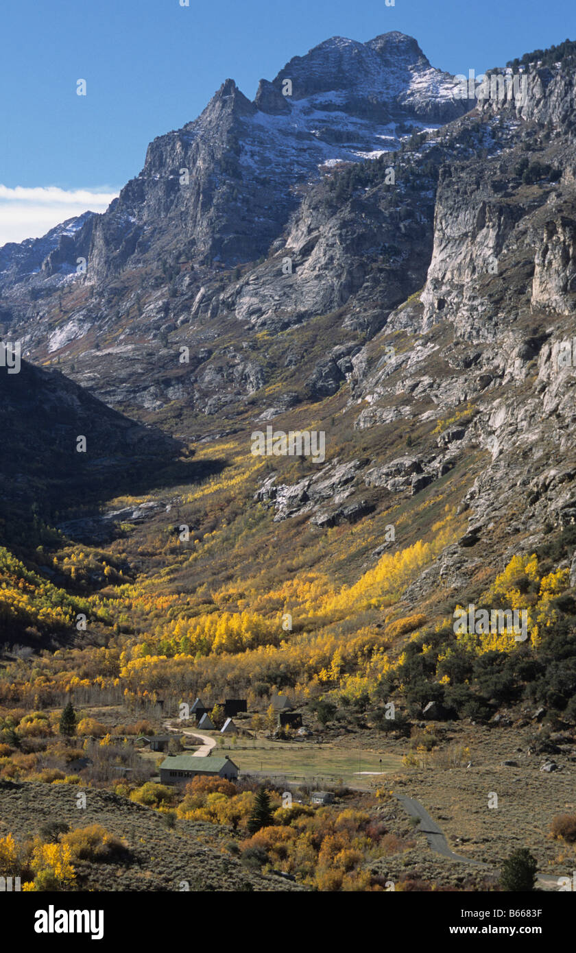 Glaciated Valley Ruby Mountains Elko Nevada US - Stock Image
