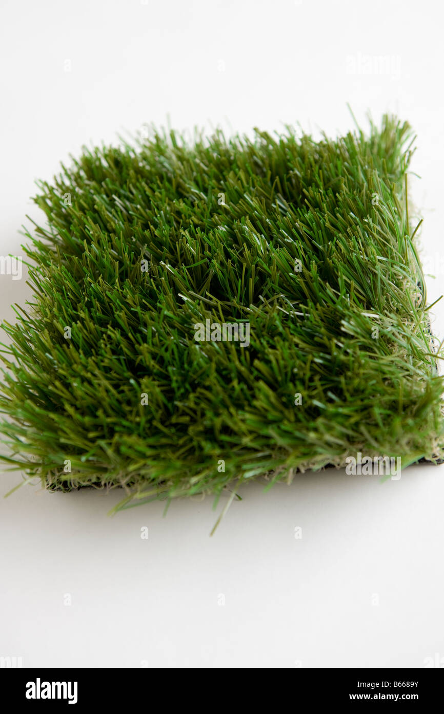 Artificial Lawn or Grass Astro-turf - Stock Image