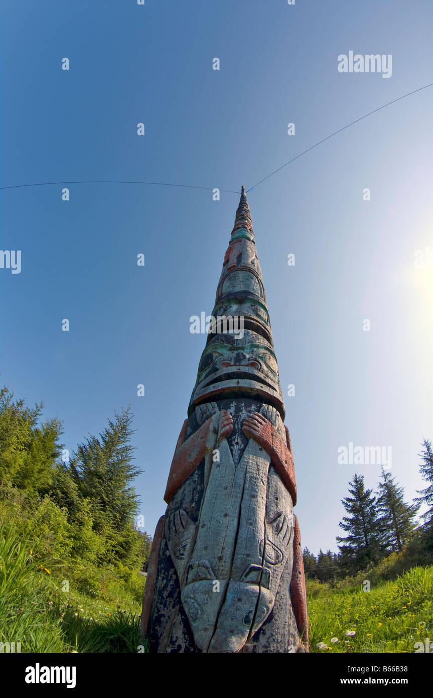 Totem pole, Kake, Alaska Stock Photo