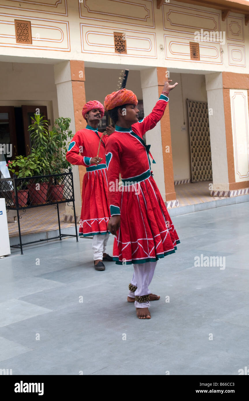 Traditional Dancers. City Palace. Jaipur, Rajasthan State, India - Stock Image