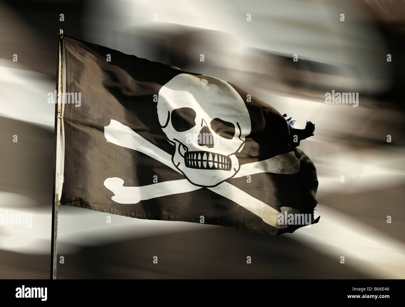 A Pirate flag Concept - Stock Image