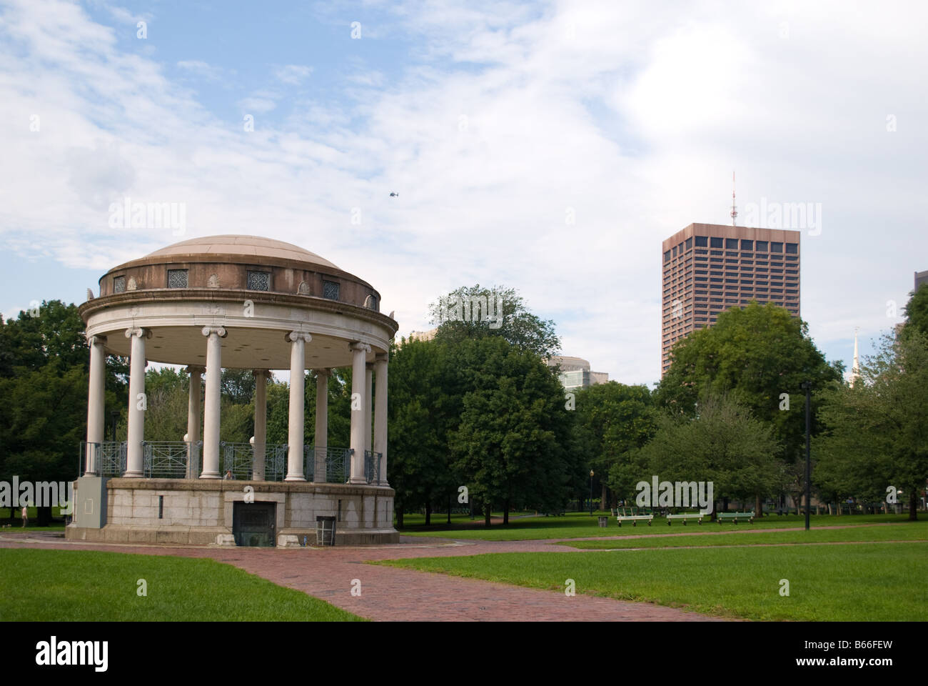 Summerhouse at the Boston Common - Stock Image