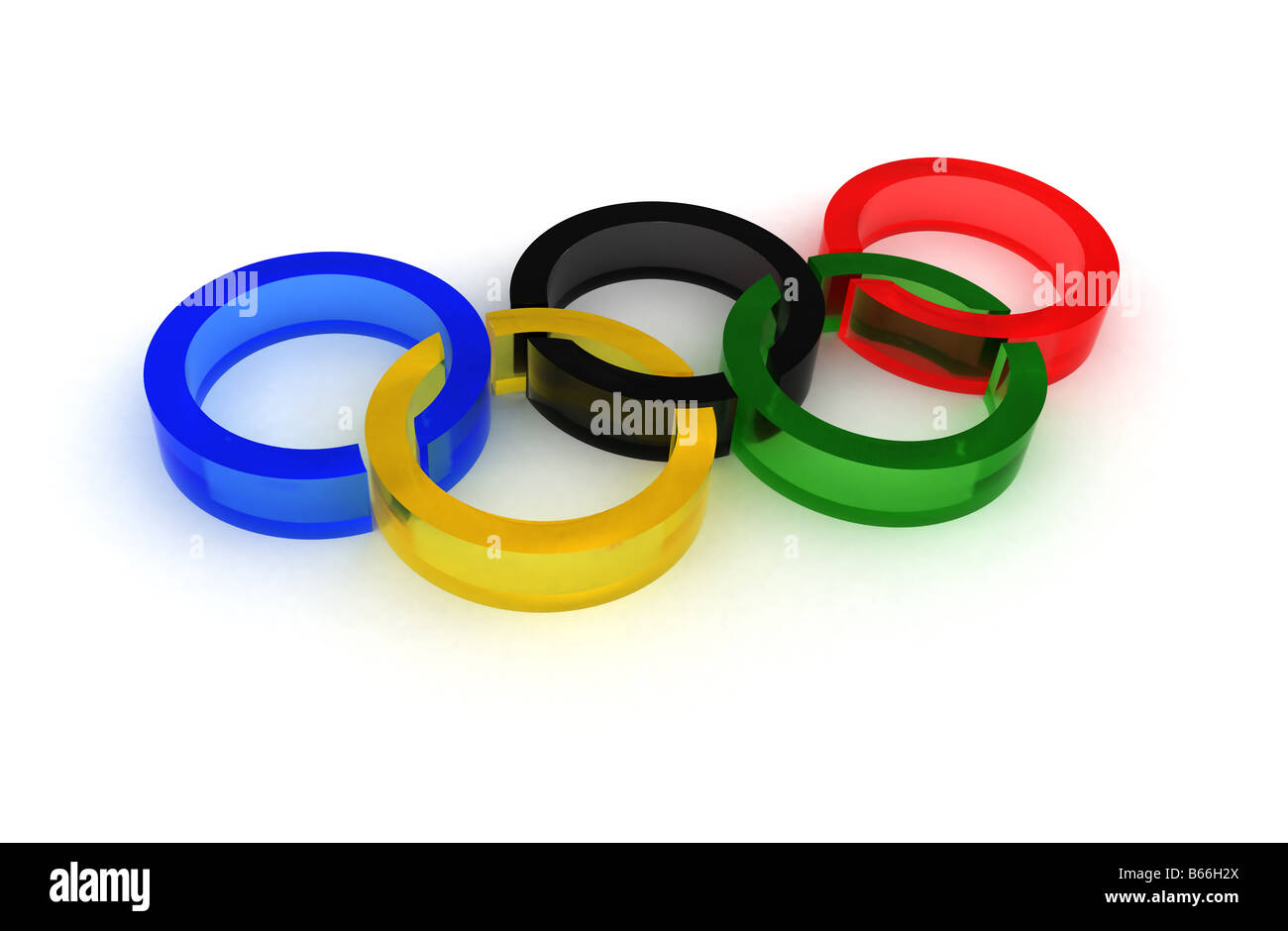 The olympic logo - Stock Image