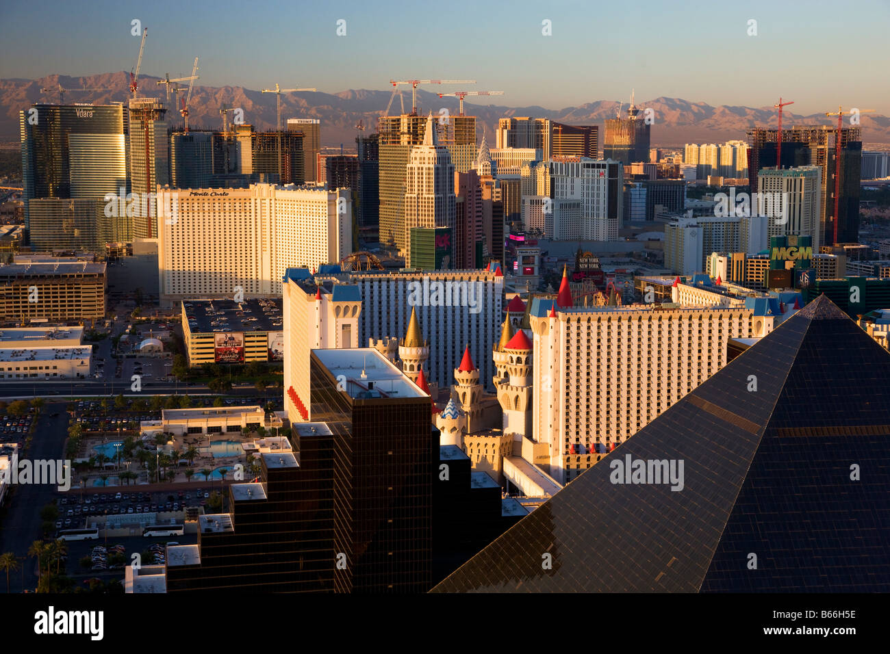 View of the Strip Las Vegas Nevada - Stock Image