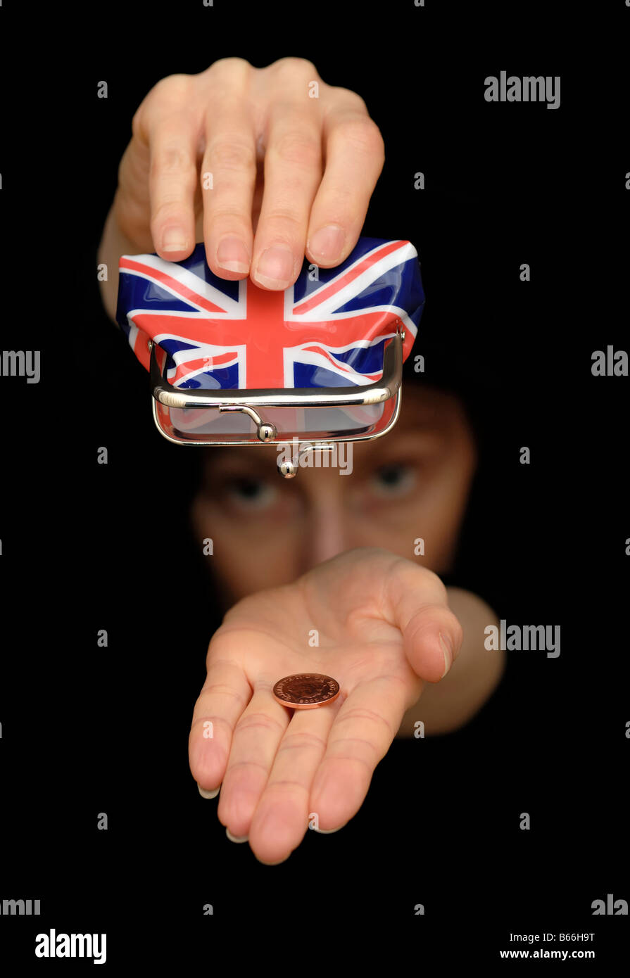 Empty Union Jack Purse - Stock Image