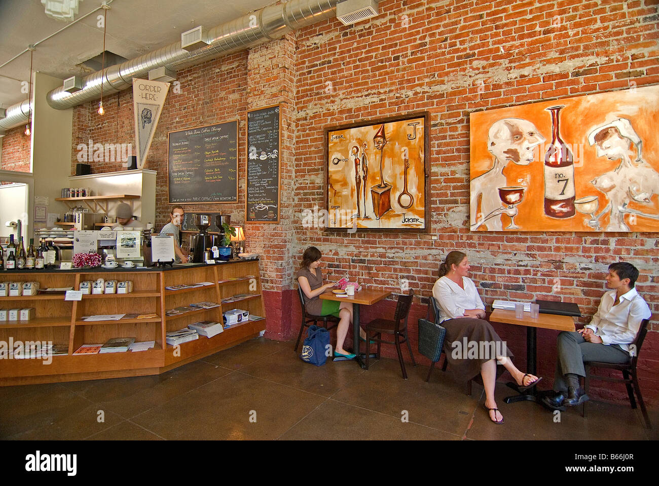 Victrola Coffee Roasters, Seattle, Washington - Stock Image
