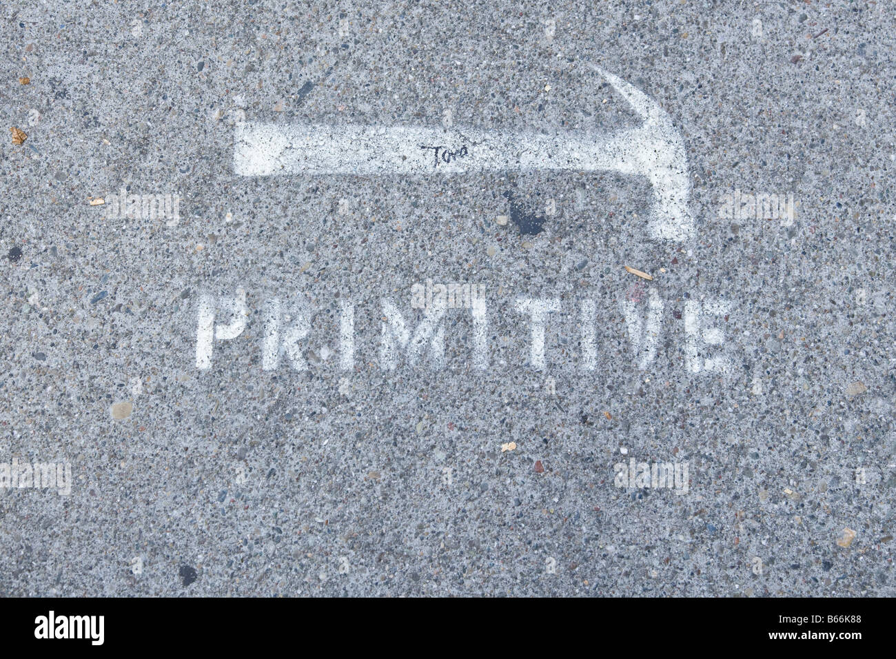 Graphically primitive - Stock Image