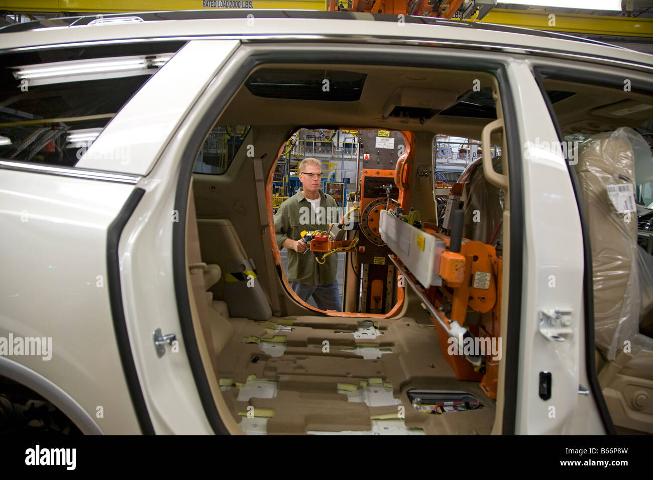 General Motors Assembly Plant - Stock Image
