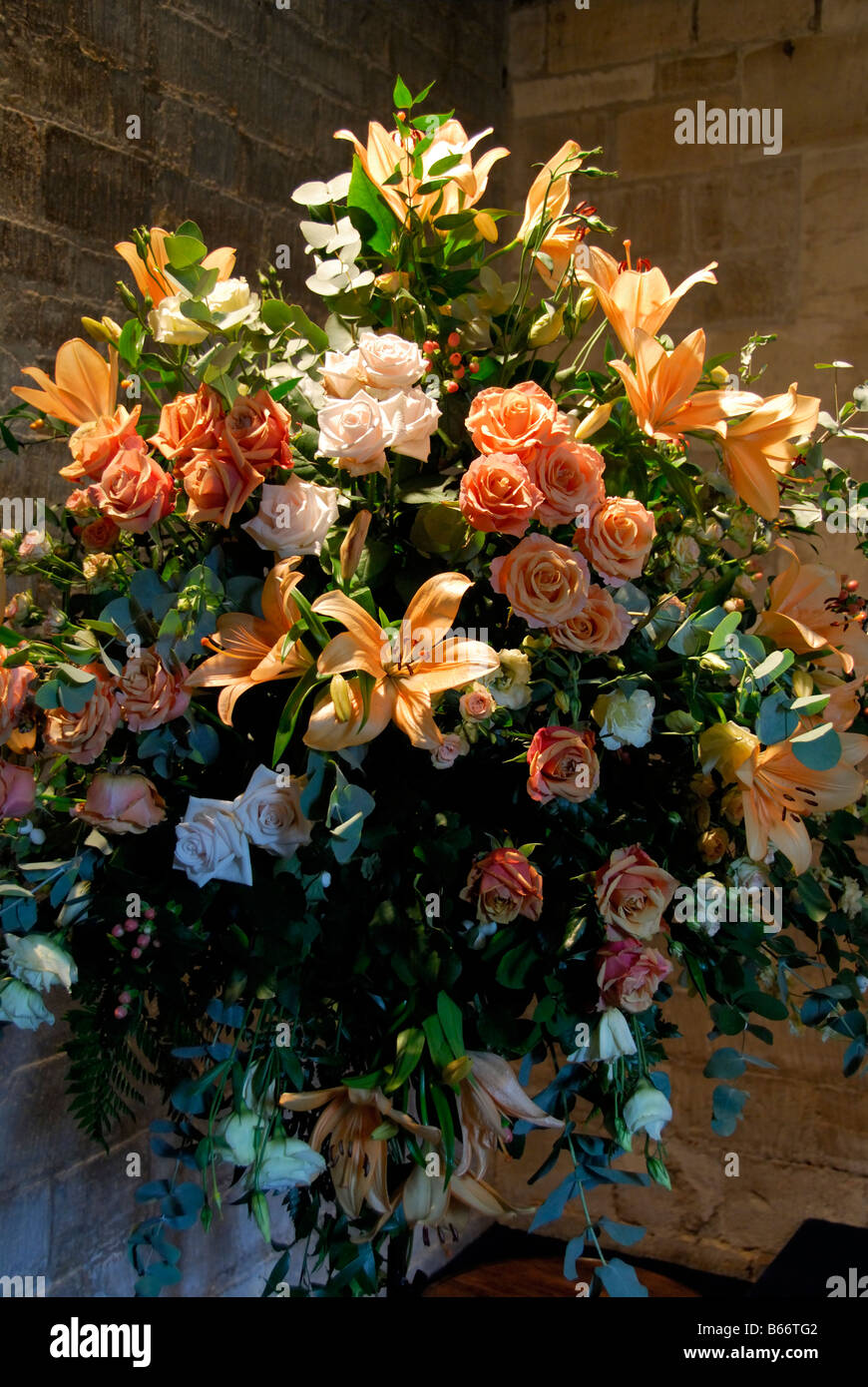 Flower Arrangement In Church High Resolution Stock Photography And Images Alamy