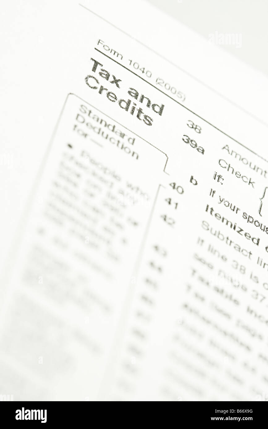 Tax forms - Stock Image