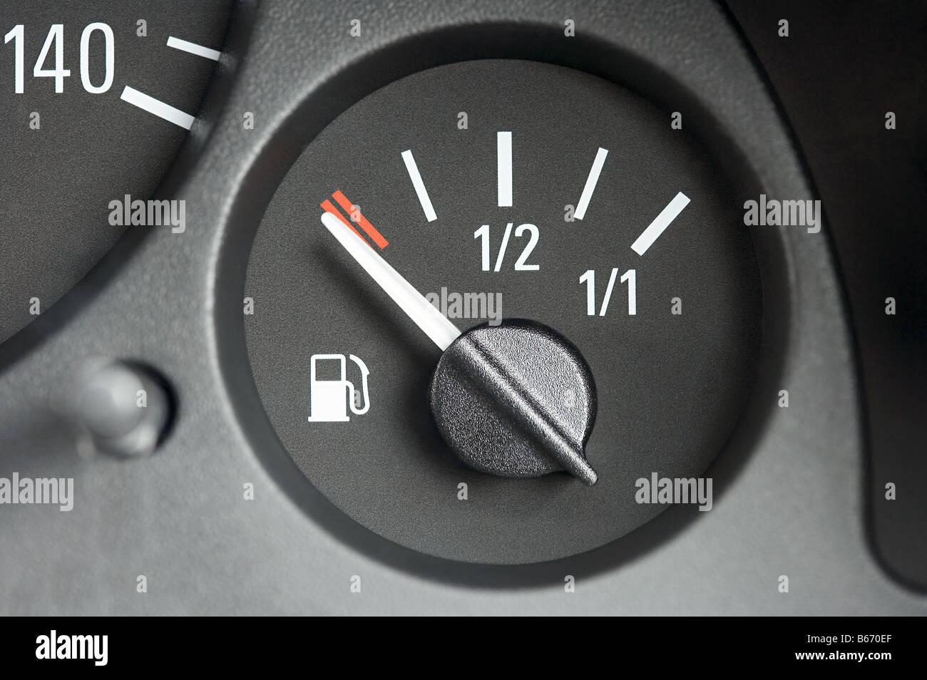 Fuel gauge - Stock Image