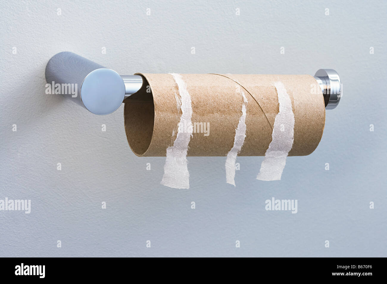 Finished toilet roll - Stock Image