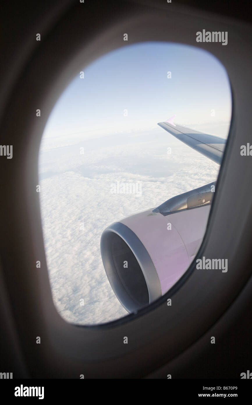 View out of a plane Stock Photo