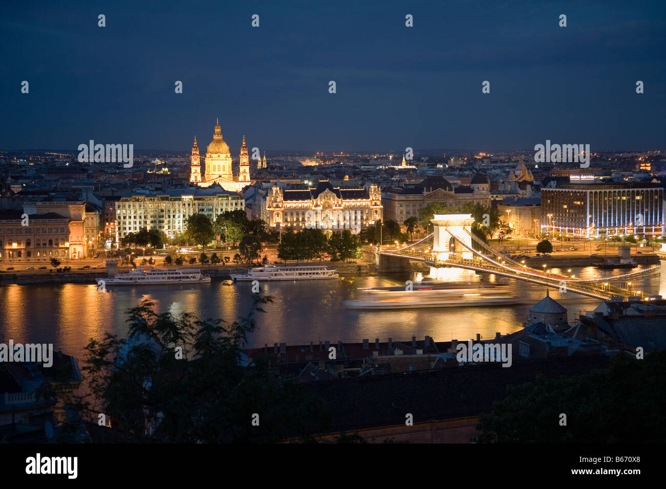 Budapest at night - Stock Image