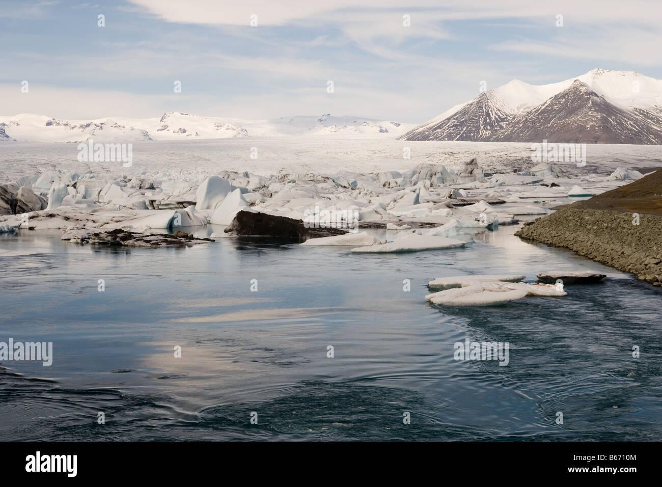 Jokulsarlon glaciers - Stock Image