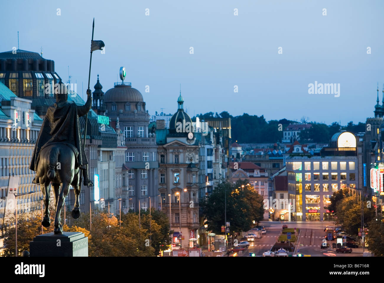 Wenceslas monument prague - Stock Image