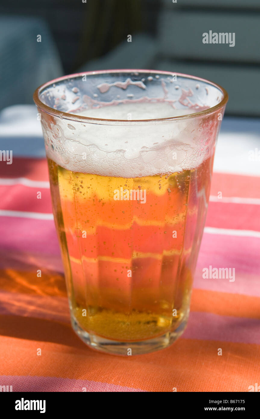 A glass of beer. - Stock Image