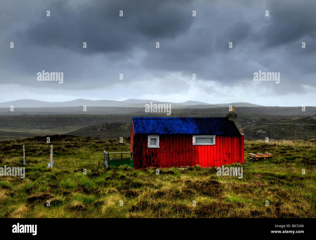 HDR image of a croft, Isle of Lewis, Hebrides, Scotland, UK - Stock Image