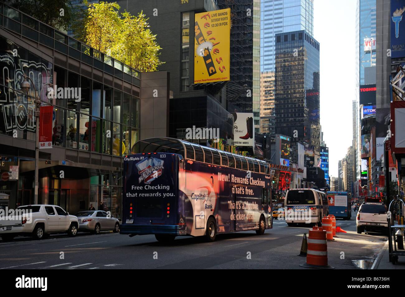 Broadway New York City America USA - Stock Image