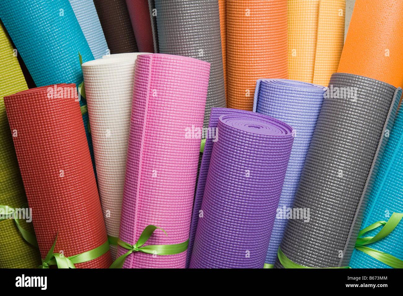 Yoga mats - Stock Image