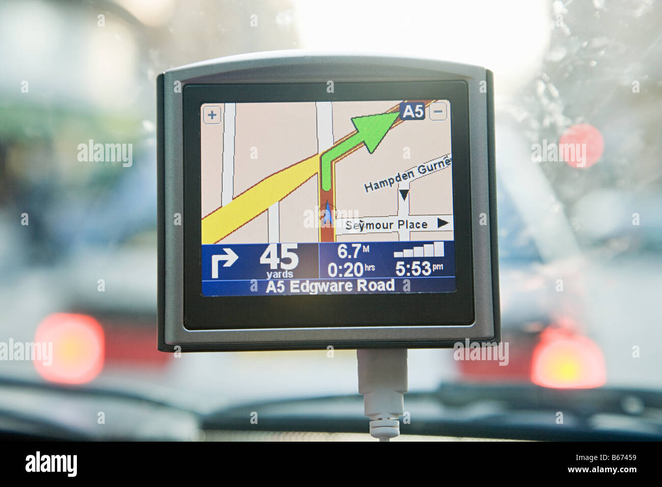 Satellite navigation - Stock Image