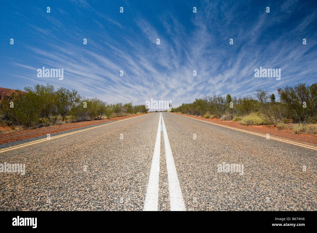 A country road in perth - Stock Image